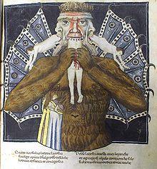Luzifer verspeist Judas, Brutus und Cassius