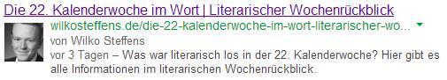 rel=author auf wilkosteffens.de in den SERPS