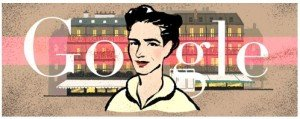 Google Doodle zu Simone de Beauvoirs 106. Geburtstag