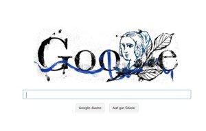 Google Doodle anlässlich des 217. Geburtstags von Annette von Droste-Hülshoff