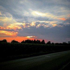 Sonnenuntergang in Lilienthal
