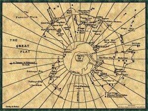 Karte von Arrakis, dem Wüstenplaneten