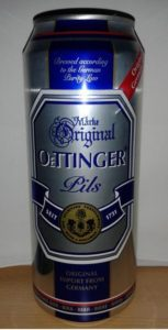 Oettinger Pils, Quelle: Von FakirNL - Eigenes Werk, CC BY-SA 3.0, https://commons.wikimedia.org/w/index.php?curid=28260942