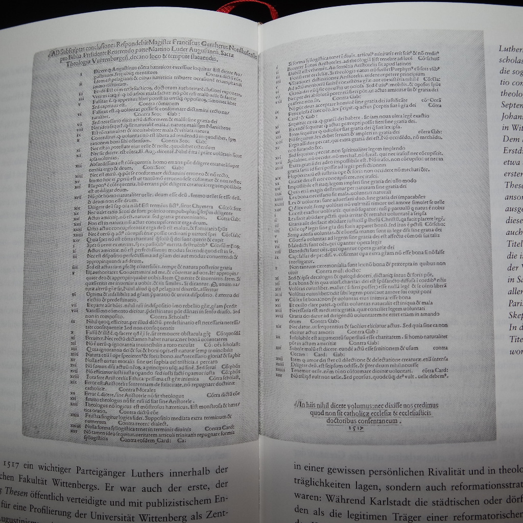 Martin Luthers Thesen gegen die scholastische Theologie (1517)